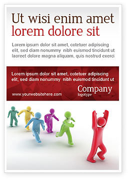 Victory Ad Template, 04144, Consulting — PoweredTemplate.com