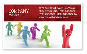 Victory Business Card Template, 04144, Consulting — PoweredTemplate.com