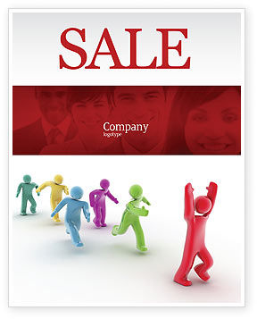 Victory Sale Poster Template, 04144, Consulting — PoweredTemplate.com