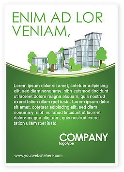 Green District Ad Template, 04147, Construction — PoweredTemplate.com