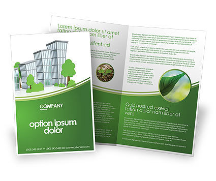 Green District Brochure Template, 04147, Construction — PoweredTemplate.com