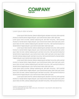 Green District Letterhead Template, 04147, Construction — PoweredTemplate.com