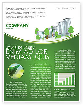Green District Newsletter Template, 04147, Construction — PoweredTemplate.com