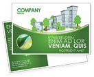 Construction: Green District Postcard Template #04147