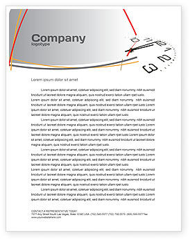 Noon Letterhead Template, 04149, Business — PoweredTemplate.com