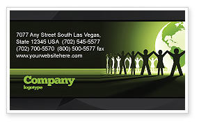 Global: World Unity Business Card Template #04151