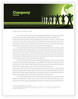 World Unity Letterhead Template, 04151, Global — PoweredTemplate.com