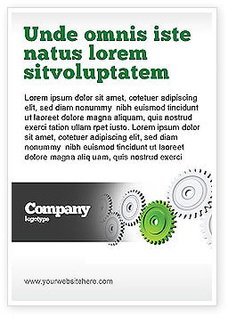 Business Concepts: Tandwieloverbrenging Met Lood Gear Advertentie Template #04154