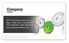 Pinion Transmission With Lead Gear Business Card Template, 04154, Business Concepts — PoweredTemplate.com