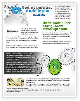 Business Concepts: Pinion Transmission With Lead Gear Flyer Template #04154