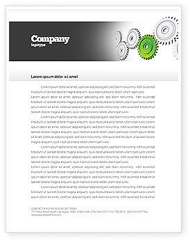 Business Concepts: Pinion Transmission With Lead Gear Letterhead Template #04154