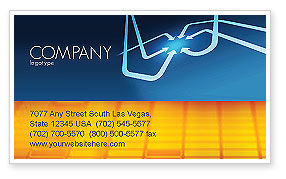 Arrow Point Business Card Template, 04157, Business Concepts — PoweredTemplate.com