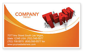 Team Efforts Business Card Template, 04158, Consulting — PoweredTemplate.com