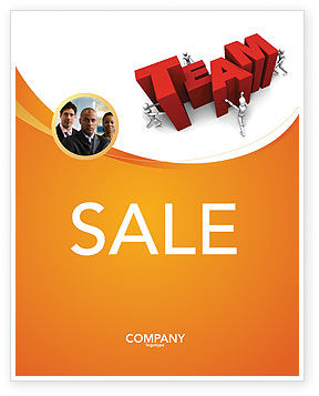 Team Efforts Sale Poster Template