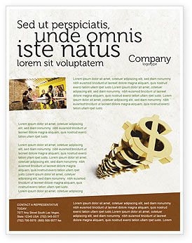 Financial/Accounting: Stapel von dollar Flyer Vorlage #04160