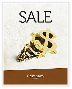Financial/Accounting: Stack Of Dollar Sale Poster Template #04160