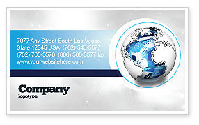 World Turns Business Card Template, 04162, Global — PoweredTemplate.com