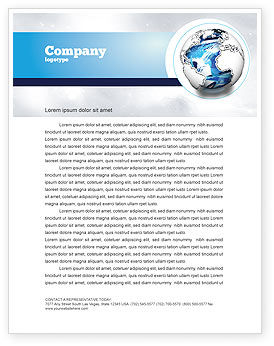 Global: World Turns Letterhead Template #04162
