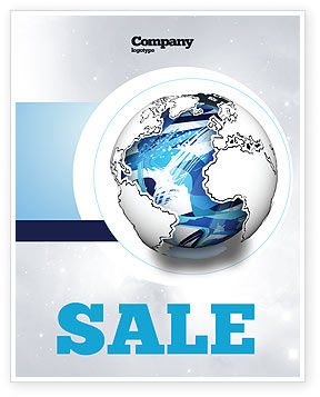 Global: World Turns Sale Poster Template #04162