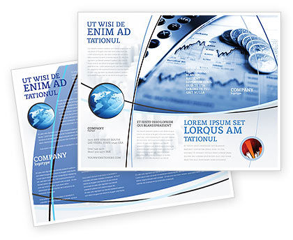 Financial/Accounting: Economy Brochure Template #04164