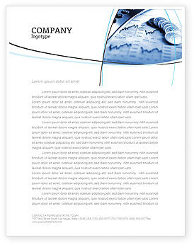 Economy Letterhead Template, 04164, Financial/Accounting — PoweredTemplate.com