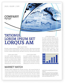 Economy Newsletter Template, 04164, Financial/Accounting — PoweredTemplate.com