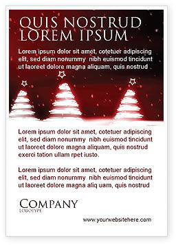 Fir Tree Theme Ad Template, 04165, Holiday/Special Occasion — PoweredTemplate.com