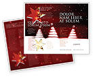 Holiday/Special Occasion: Fir Tree Theme Brochure Template #04165