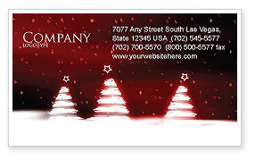 Fir Tree Theme Business Card Template, 04165, Holiday/Special Occasion — PoweredTemplate.com