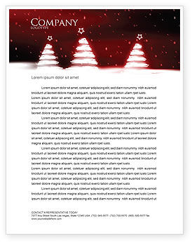Fir Tree Theme Letterhead Template, 04165, Holiday/Special Occasion — PoweredTemplate.com