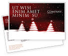 Holiday/Special Occasion: Fir Tree Theme Postcard Template #04165