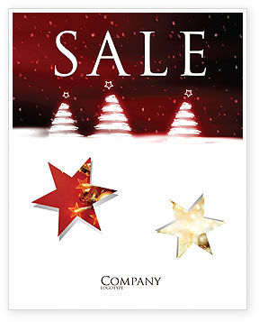 Fir Tree Theme Sale Poster Template, 04165, Holiday/Special Occasion — PoweredTemplate.com