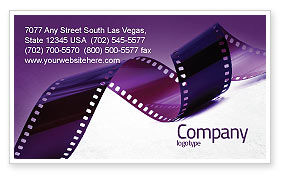 Careers/Industry: Film Strip In Purple Color Business Card Template #04168