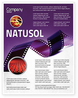 Film Strip In Purple Color Flyer Template