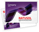 Careers/Industry: Film Strip In Purple Color Postcard Template #04168