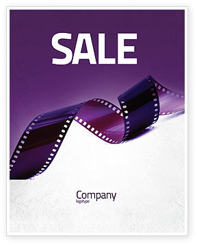 Careers/Industry: Film Strip In Purple Color Sale Poster Template #04168
