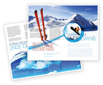 Skis Brochure Template, 04169, Sports — PoweredTemplate.com