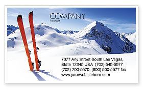Sports: Ski's Visitekaartje Template #04169