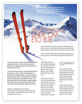 Skis Flyer Template, 04169, Sports — PoweredTemplate.com