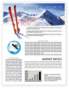 Skis Newsletter Template, 04169, Sports — PoweredTemplate.com