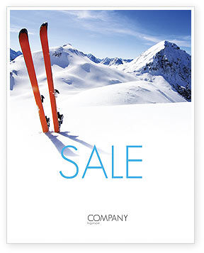 Skis Sale Poster Template, 04169, Sports — PoweredTemplate.com