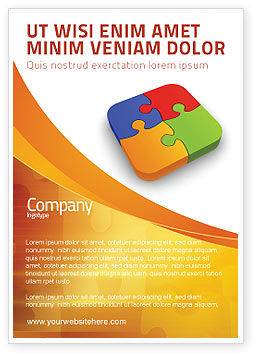 Business Concepts: Jigsaw Pieces Ad Template #04170