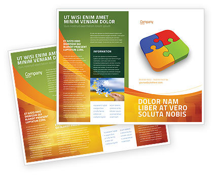 Business Concepts: Jigsaw Pieces Brochure Template #04170