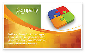 Business Concepts: Jigsaw Pieces Business Card Template #04170