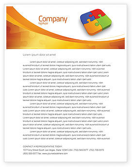 Business Concepts: Jigsaw Pieces Letterhead Template #04170