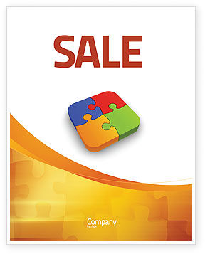 Business Concepts: Jigsaw Pieces Sale Poster Template #04170