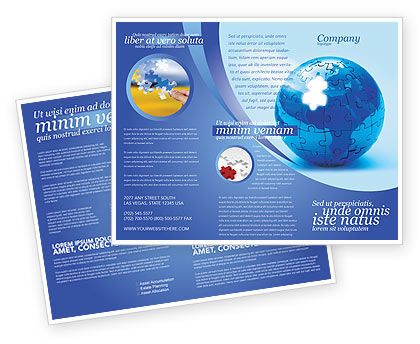 World Reconstruction Brochure Template, 04171, Global — PoweredTemplate.com