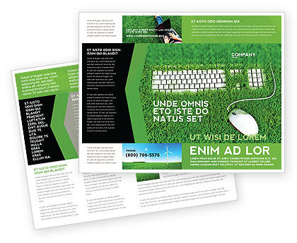 Green Technology Brochure Template Design And Layout Download Now - Technology brochure template