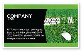 Technology, Science & Computers: Green Technology Business Card Template #04173