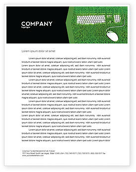 Technology, Science & Computers: Green Technology Letterhead Template #04173